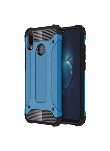 Microsonic Huawei P Smart 2019 Kılıf Rugged Ar  Mavi